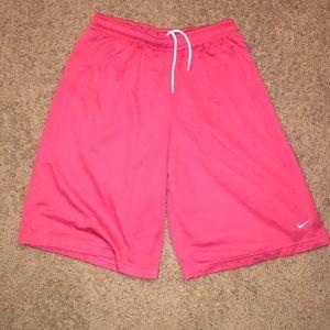 Pink Nike Basketball Shorts